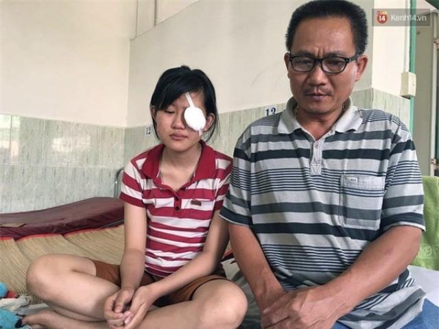 Nữ sinh mù mắt vĩnh viễn sau sự cố pháo hoa ở Quảng Ngãi - ảnh 3