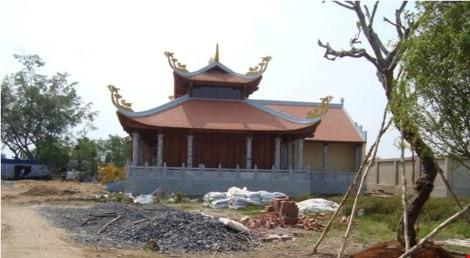 Tạm đình chỉ nhà thờ Tổ của Hoài Linh vì xây dựng không phép - ảnh 2