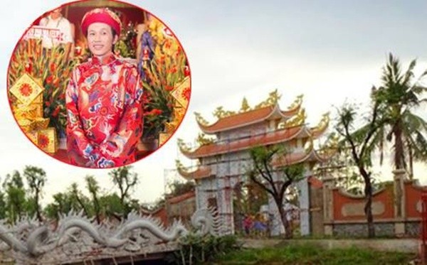 Đền thờ Tổ của Hoài Linh buộc phải phá dỡ sau xử phạt hành chính - ảnh 1