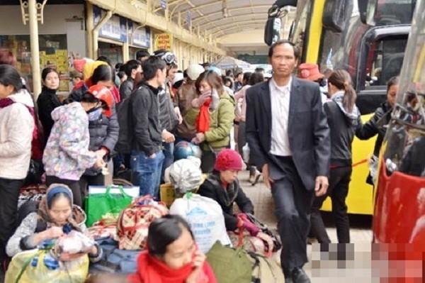 Hàng nghìn người chật vật rời Thủ đô dịp Tết Nguyên đán - ảnh 7