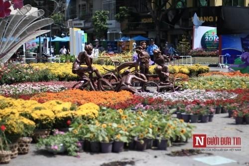 Đường hoa Nguyễn Huệ ngập tràn sắc xuân ngày khai hội - ảnh 1
