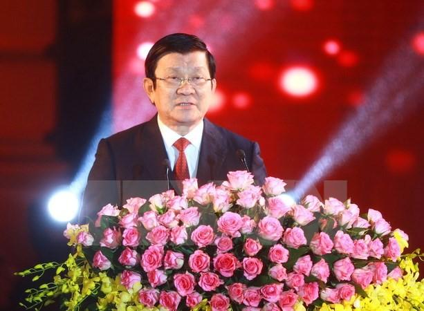 Chủ tịch nước Trương Tấn Sang chúc Tết nhân dịp xuân Bính Thân - ảnh 1
