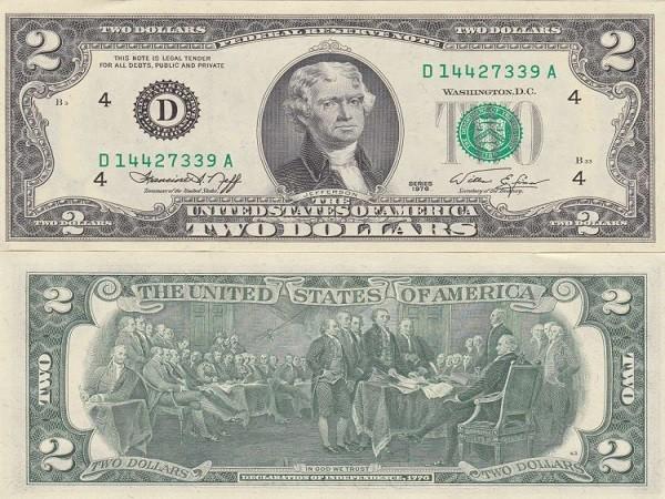 Ý nghĩa may mắn của tờ 2 đô la trong dịp Tết Nguyên Đán - ảnh 1