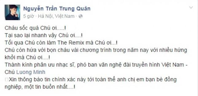 Nghệ sĩ Việt tiếc thương nhạc sĩ Lương Minh - ảnh 1
