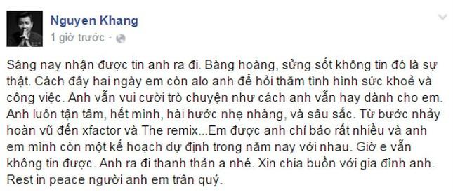 Nghệ sĩ Việt tiếc thương nhạc sĩ Lương Minh - ảnh 2