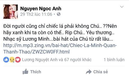 Nghệ sĩ Việt tiếc thương nhạc sĩ Lương Minh - ảnh 5