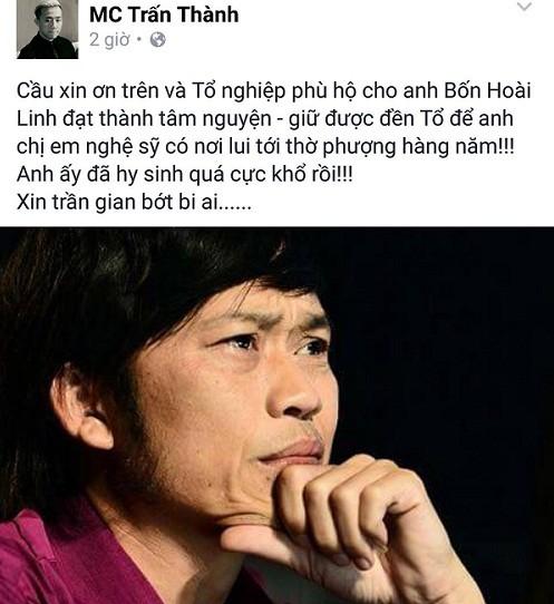 Trấn Thành nói về Hoài Linh: 'Anh ấy đã hy sinh quá cực khổ rồi' - ảnh 2