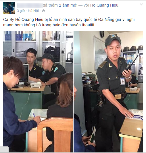 Hồ Quang Hiếu lên tiếng về vụ bị tạm giữ vì mang bom ra sân bay - ảnh 2