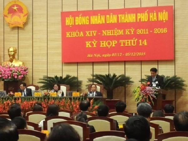 Hà Nội họp bất thường miễn nhiệm 3 Phó chủ tịch UBND Thành phố - ảnh 1