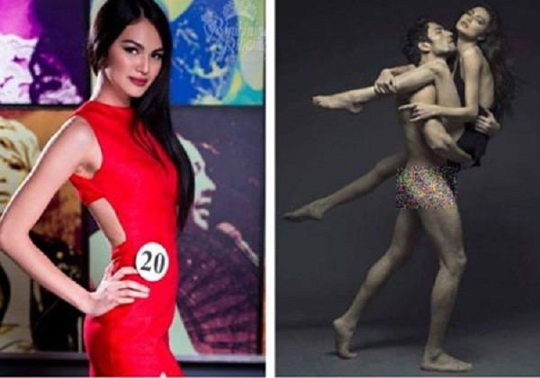 Thí sinh Hoa hậu Philippines ngậm ngùi bị 'out' vì lộ ảnh nude - ảnh 1