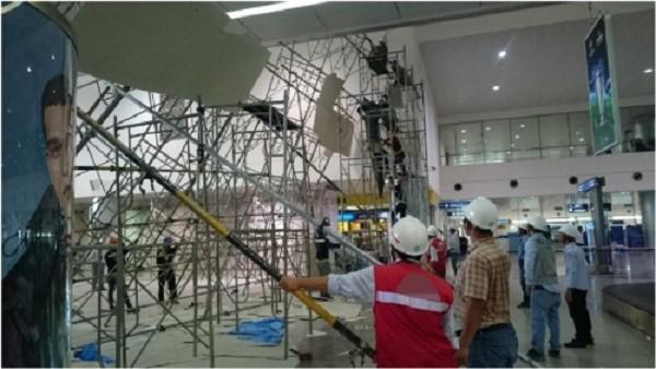 Vụ sập giàn giáo bên trong sân bay Tân Sơn Nhất: Nhà thầu nói gì? - ảnh 2