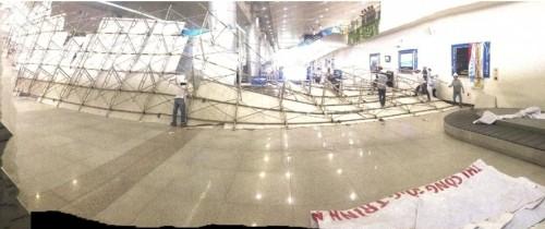 Vụ sập giàn giáo bên trong sân bay Tân Sơn Nhất: Nhà thầu nói gì? - ảnh 1