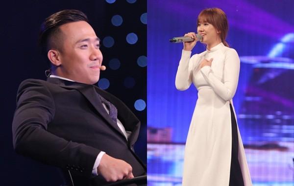 Trấn Thành thích thú ngắm Hari Won diện áo dài trắng như nữ sinh - ảnh 1