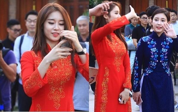 Fan Việt náo loạn vì nhóm T-ara diện áo dài thướt tha tại Sài Gòn - ảnh 8
