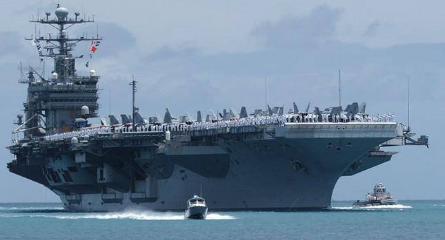 Mỹ điều siêu tàu sân bay đến tập trận ở Hàn Quốc - ảnh 1