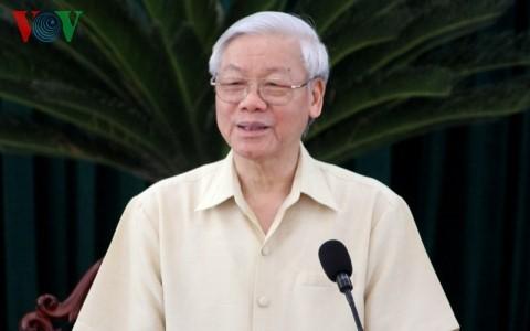 Tổng Bí thư Nguyễn Phú Trọng thăm và làm việc tại tỉnh Long An - ảnh 1