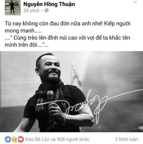 Cả showbiz Việt bàng hoàng, xót xa trước tin tức Trần Lập qua đời - ảnh 4