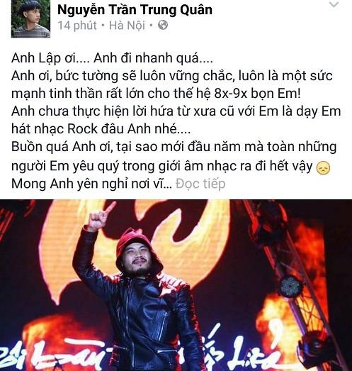 Cả showbiz Việt bàng hoàng, xót xa trước tin tức Trần Lập qua đời - ảnh 5
