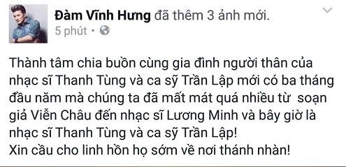 Cả showbiz Việt bàng hoàng, xót xa trước tin tức Trần Lập qua đời - ảnh 6