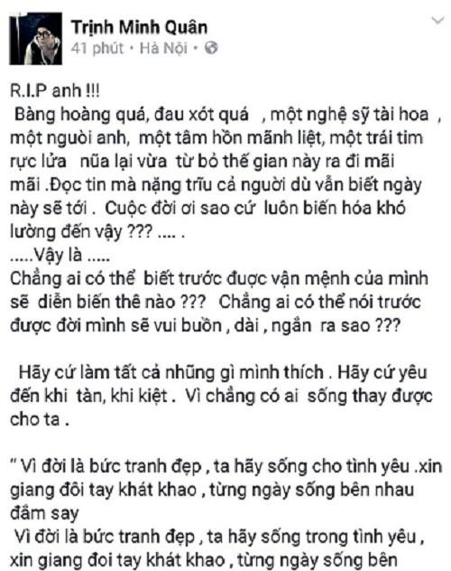 Cả showbiz Việt bàng hoàng, xót xa trước tin tức Trần Lập qua đời - ảnh 7