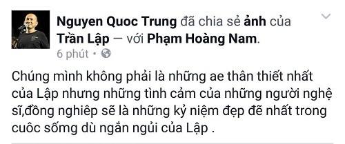 Cả showbiz Việt bàng hoàng, xót xa trước tin tức Trần Lập qua đời - ảnh 12