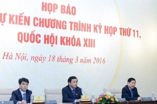 Kỳ họp thứ 11: Bầu Chủ tịch nước, Thủ tướng, Chủ tịch Quốc hội - ảnh 1