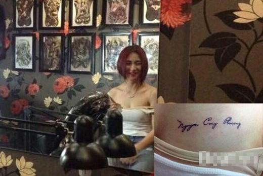 Hòa Minzy 'chiêu trò' sexy vòng một khoe hình xăm tên Công Phượng - ảnh 3