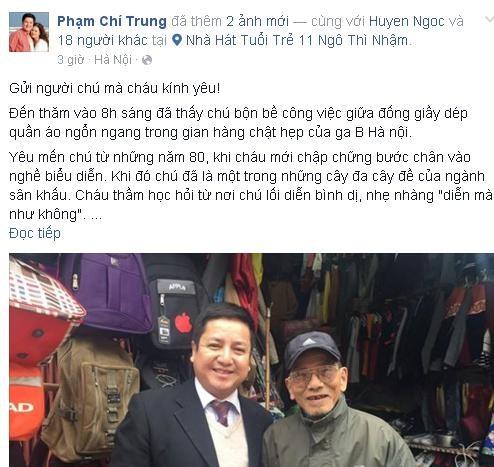 'Tâm thư' Chí Trung gửi người cha già Trần Hạnh gây xúc động - ảnh 2