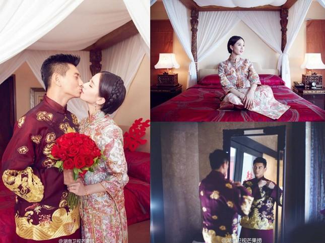 Trong hôn lễ, Ngô Kỳ Long 'khóa môi' phù rể trước mặt Lưu Thi Thi - ảnh 2
