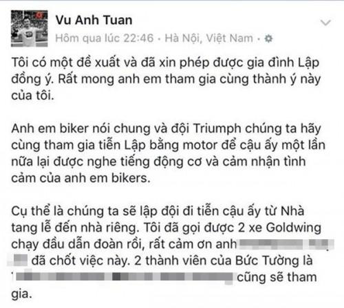 MC Tuấn Anh cùng bạn bè đưa tiễn Trần Lập bằng dàn motor - ảnh 2