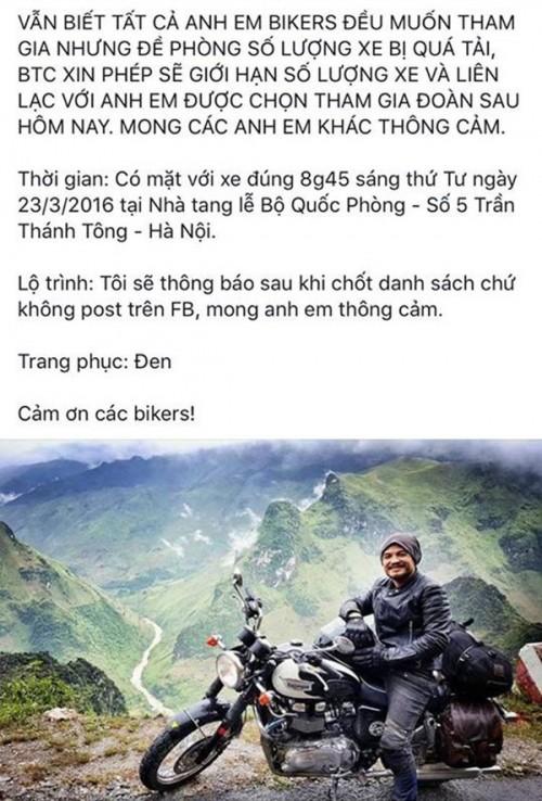 MC Tuấn Anh cùng bạn bè đưa tiễn Trần Lập bằng dàn motor - ảnh 3