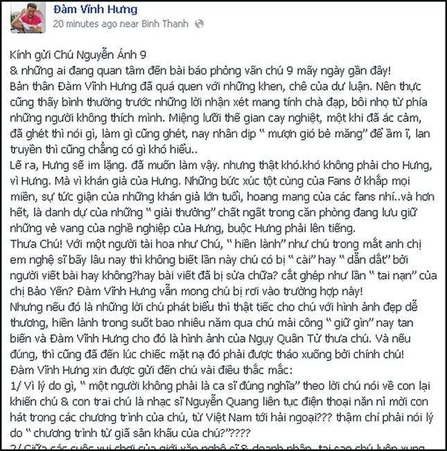 Mr Đàm chúc nhạc sỹ Nguyễn Ánh 9 bình an sau scandal 'đốp chát' - ảnh 3