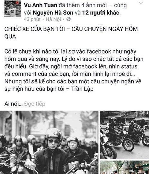 MC Anh Tuấn và câu chuyện ở lễ tang Trần Lập giờ mới kể - ảnh 1