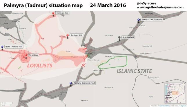 Nga không kích 146 lần, tiêu diệt 320 phiến quân IS ở Palmyra - ảnh 2