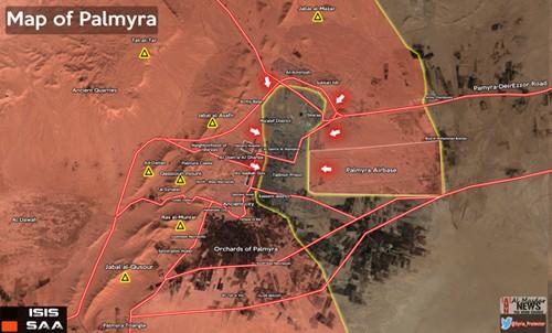Nga không kích tiêu diệt 100 phiến quân IS trong 24 giờ ở Palmyra - ảnh 2