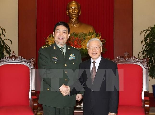 Tổng Bí thư tiếp Đoàn đại biểu cấp cao Bộ Quốc phòng Trung Quốc - ảnh 1