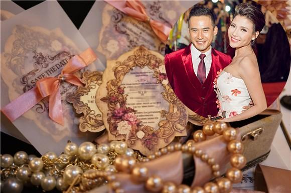 Thúy Diễm và Lương Thế Thành 'chơi trội' với thiệp cưới ngọc trai - ảnh 1