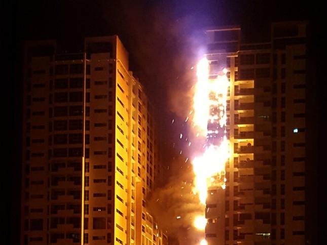 Video: Cháy dữ dội tại hai tòa nhà chọc trời ở UAE - ảnh 1