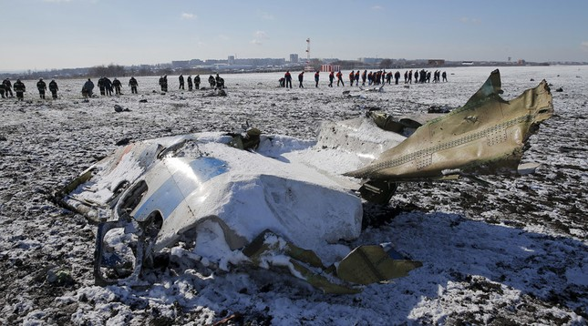 Hé lộ kết quá phân tích hộp đen máy bay Flydubai rơi ở Nga - ảnh 1