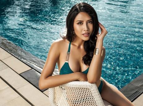 Hoa hậu Biển Nguyễn Thị Loan nóng bỏng với bikini, váy xuyên thấu - ảnh 7