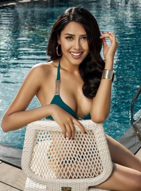 Hoa hậu Biển Nguyễn Thị Loan nóng bỏng với bikini, váy xuyên thấu - ảnh 6