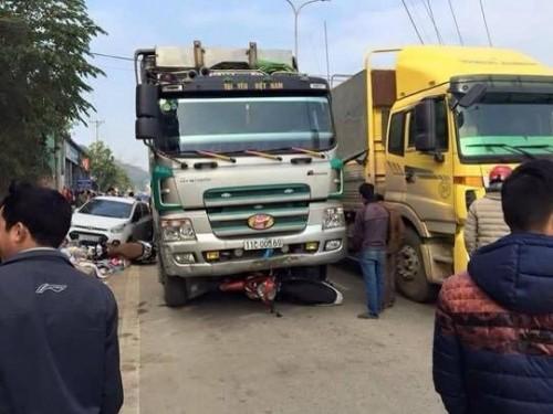 Xác định danh tính tài xế xe tải cán loạt phương tiện ở Cao Bằng - ảnh 1