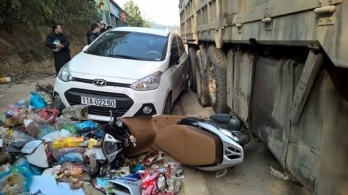 Xác định danh tính tài xế xe tải cán loạt phương tiện ở Cao Bằng - ảnh 2