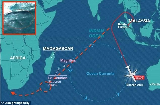 Hình ảnh vệ tinh cho thấy xác MH370 đang ở Mũi Hảo Vọng? - ảnh 3