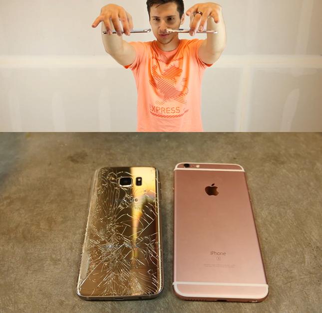 Ném rơi từ 6m xuống, Galaxy S7 edge hay iPhone 6S Plus nát bươm? - ảnh 2