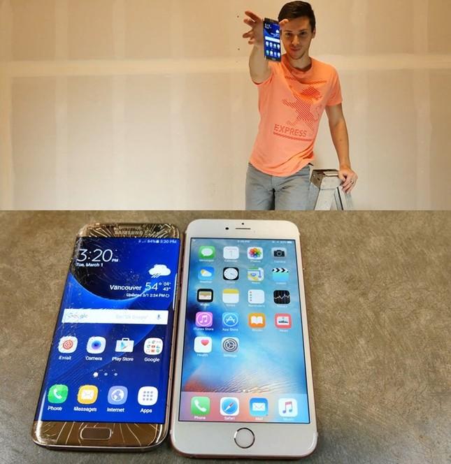 Ném rơi từ 6m xuống, Galaxy S7 edge hay iPhone 6S Plus nát bươm? - ảnh 3