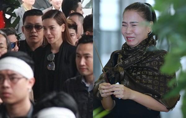 Thu Minh nức nở, Hà Hồ tỏ 'thái độ lạ' bên linh cữu NS Lương Minh - ảnh 1