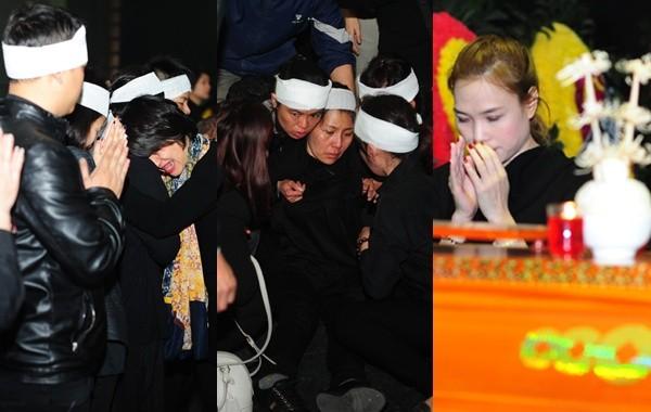 Mỹ Tâm khóc nức nở, vợ NS Lương Minh ngã quỵ bên linh cữu chồng - ảnh 1