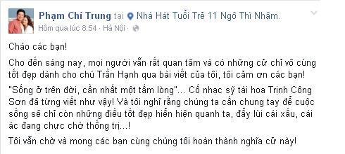 Cuộc sống bình lặng của NS Trần Hạnh bị 'đảo lộn' vì Chí Trung? - ảnh 3