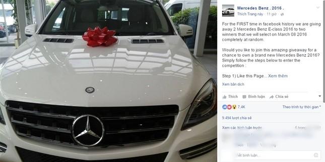 Hàng chục nghìn người bị lừa trên Facebook vì ham Mercedes - ảnh 1